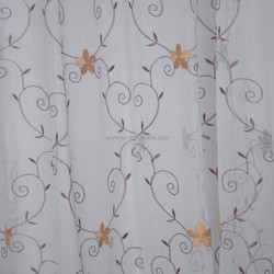 100% Polyester New Design Embroidery Tulle Fabric Curtain