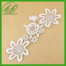 Fantasia Daron material branco motivo da flor aparamento do laço para o vestido de verão decoração YKk - 1870