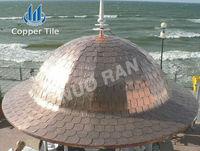 Nuoran Hot Sale Fish Scale Copper Roof Tile