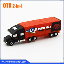 OTG usb flash drive cartoon OTG usb mini truck shape OTG usb pen drive wholesale