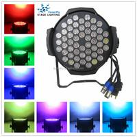 party city DMX 7CH par64 led disco lighting/54*3w rgb 3in1 par light