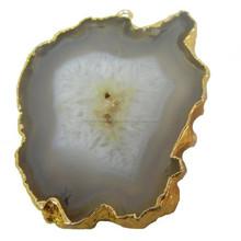 Agate Druzy Geode Slice Pendant