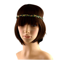 2015 New Arrival floral fabric braided hair wrap/hairband/headband