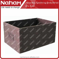 NAHAM Jute Cloth Foldable Storage Container CD DVD Storage Box