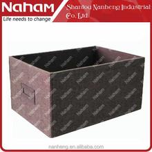 NAHAM Jute Cloth Foldable Storage Container CD DVD Storage Box