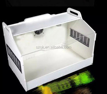 Large white acrylic reptile display cages for sale