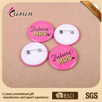 plastic Safty pin back Advertising promotions Tin Button Badge