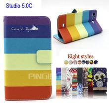 for Blu Studio 5.0 C HD Case,High Quality PU Leather Case Cover For Blu Studio 5.0 C HD