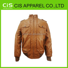 latest fashion style men's cheap leather jackets
