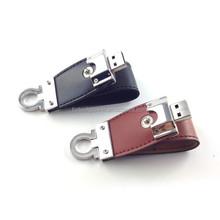 OEM customized logo flash drive usb leather