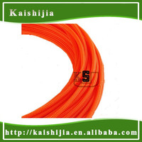 Orange 4mm High density PET braid sleeve Expandable cable protection sleeving