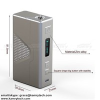 2015 Kamry new hot pre-selling huge vapor removeable 18650 battery 7~30w Kamry30 electronic cigarette free sample free shipping