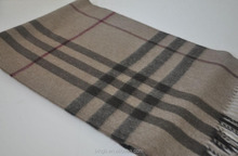 2016 high quality ladies fashion wool cotton silk Cashmere Scarf Muffler Smoked Check scarves cheap sale