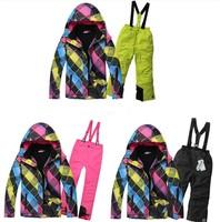 Wholesale New style Children ski suit Phibee colerful body waterproof plus size girls ski suit