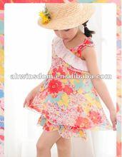 2012 fashion one shoulder chiffon princess children dress