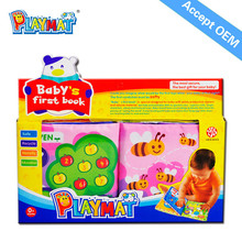 2014 hot selling Safe Non-toxic Soft toys Sea Animals Baby Cloth Book CE EN71 RHOS 6P AZO