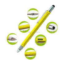 6 in 1 Tech Tool Stylus Touch Pen, Ballpoint pen ,Double end Screw driver Ruler in CM and Inch ,Spirit Level