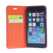 Wooden PU Leather Mobile Phone Case for iPhone 6S