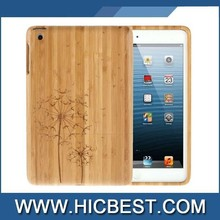 Wood engraved Pattern Bamboo Case for iPad mini 1 / 2 / 3