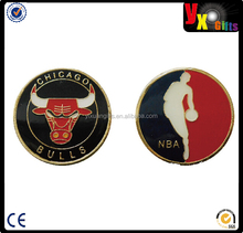 Collectible NBA Challenge Coin Logo Metal Poker / Lucky Chips & Gift