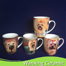 Good quality animal cartoon coffee mug with lovely dogs for gift.