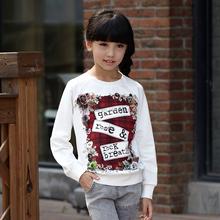2016 nouvelle arrivée vente chaude à manches longues chemise enfants vêtements