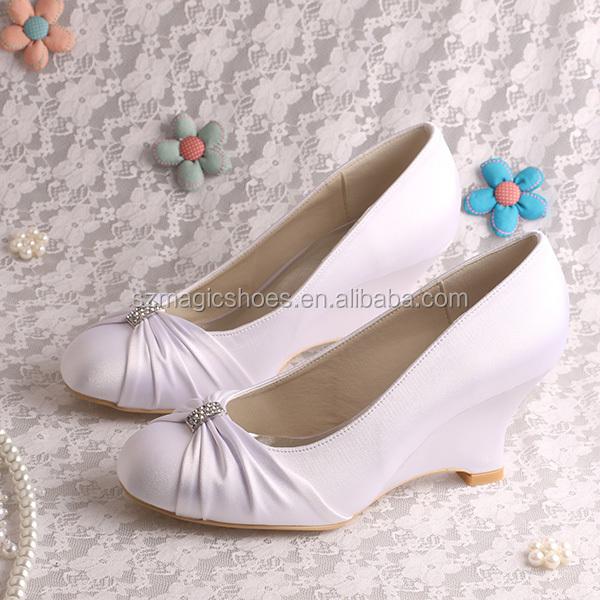 20 couleurs femmes fantaisie talon compens chaussures de marie - Chaussure Compense Mariage
