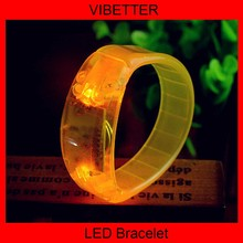 LED Sound Activated Bracelet With Customized Logo For Promotional Gift,Night Club,Pubs,Concert,Holidays,Night Racing Or Party