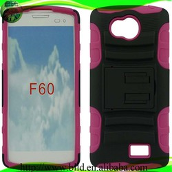 Duty pc tpu hard stand shockproof case,cell phone accessories for LG F60 LS660