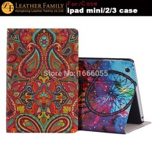 2015 New Fasion Ultra thin Flip Stand Book Leather Smart Cover For Apple for ipad mini 1/2 Retina for ipad mini 3 Cases Bags