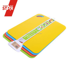 Winningstar Eco-friendly Kitchen ware 4piece gripping flexible PP Cutting board,cutting mat