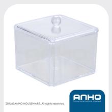 ANHO transparent plastic square dressing case