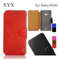 ultra thin leather for microsoft lumia 540 flip cover, back cover case for nokia lumia 540