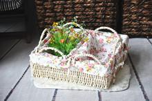 Beautiful fresh hot sale unique design cheap weave storage baskets