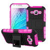Tough rugged stand armor case for Samsung Galaxy J1 Anti-skid housing