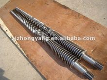 twin conical screw and barrel (according to customer demands to making screw and barrel)