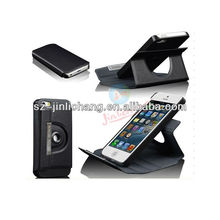 360 Rotatable Flip Leather stand Case for iphone 5