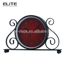 Wrought iron quartz mantel clocks by alibaba