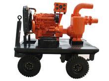 trailer type diesel engine drive self priming water pump set
