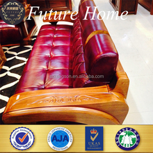luxury leather solid wood sofa furniture designs and prices