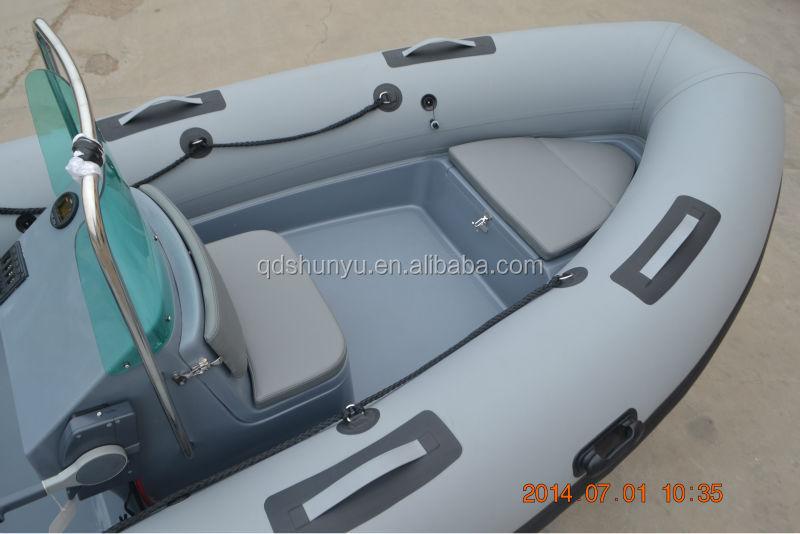 CE4.7m dark grey fiberglass hull hypalon rigid inflatable boat for sale