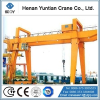 China Professional Double Girder Gantry Crane 100 Ton