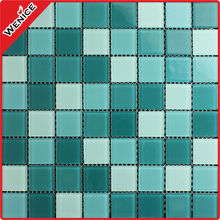 mix color glass bathroom blend crystal mosaic tile for wall