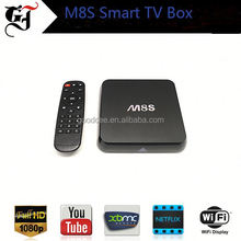 Popular design dual core android M8S Tv to PC Converter TV box