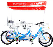 steel tandem bicycle four person surrey bike with child seats