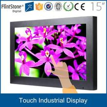 FlintStone 19 inch high brightness POS terminal surveillance ir touch screen VGA+AV monitor