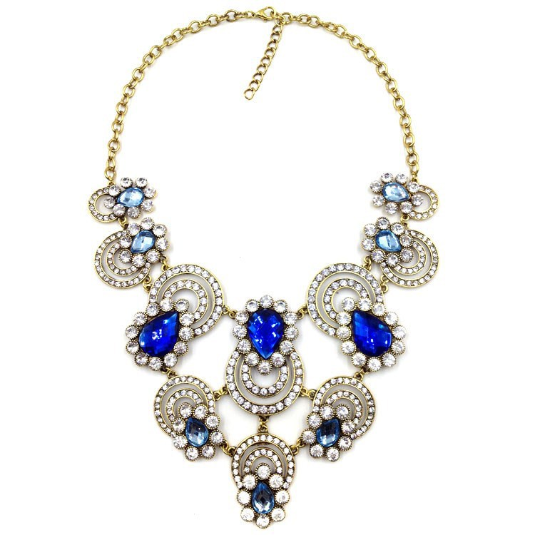 2015 crystal necklace high end fashion jewelry necklace for High end fashion jewelry