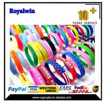 2015 China silicon bracelet,silicone wrist bands