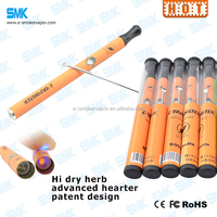 2015 best selling disposable dry herb/ceramic heating 500 puffs vaporizer pen oil
