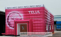 red cubical inflatable gaint tent
